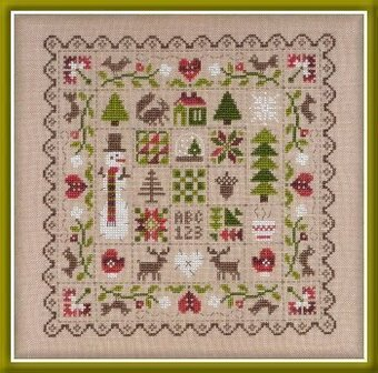 Patchwork Hiver - Cross Stitch Pattern