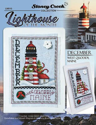Lighthouse of the Month - December - Cross Stitch Pattern
