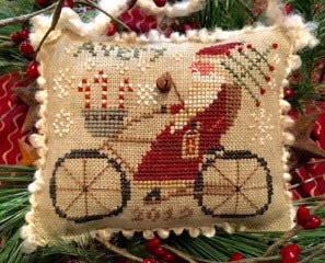 Avery's Cycling Santa - Cross Stitch Pattern