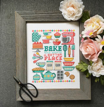 Bake the World a Better Place - Cross Stitch Pattern