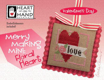 Merry Making Mini - Floral Heart - Cross Stitch Pattern