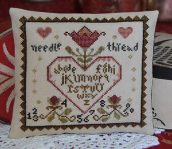 Primitive Heart - Cross Stitch Pattern