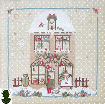 Christmas Avenue Family House  (w/buttons)