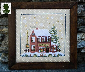 Christmas Avenue - Quilt Shop (w/buttons)