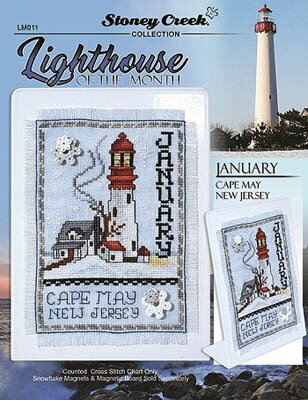 Lighthouse of the Month - January - Cross Stitch Pattern