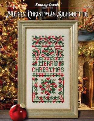 Merry Christmas Silhouette - Cross Stitch Pattern