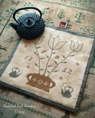 Tea Time Kettle Mat - Cross Stitch Pattern