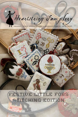 Festive Little Fobs Stitching Edition - Cross Stitch Pattern