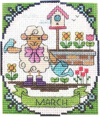 Year of Animal Fun & Frolics - March - Cross Stitch Pattern
