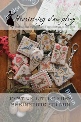 Festive Little Fobs Springtime Edition - Cross Stitch Patter