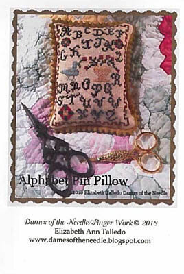 Alphabet Pin Pillow - Cross Stitch Pattern