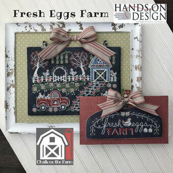 Fresh Eggs Farm - Chalk on the Farm - Cross Stitch Pattern