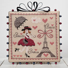 La Parisienne - The Parisian - Cross Stitch Pattern