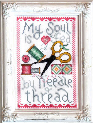 My Soul is Fed - Cross Stitch Pattern
