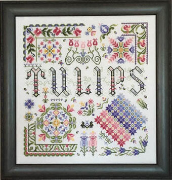Hidden Tulips - Cross Stitch Pattern