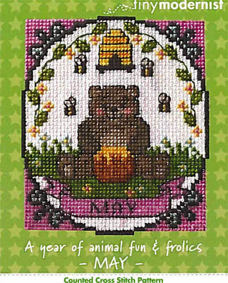 Year of Animal Fun & Frolics - May - Cross Stitch Pattern