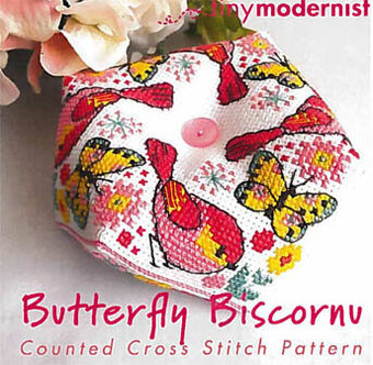 Butterfly Biscornu - Cross Stitch Pattern
