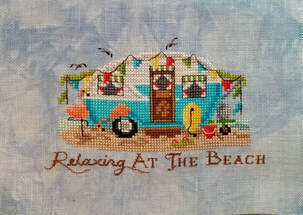 Relaxing At The Beach - Cross Stitch Pattern