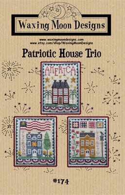 Patriotic House Trio - Cross Stitch Pattern