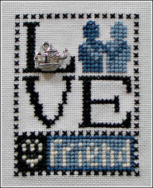Love My Friend (w/charm) - Cross Stitch Pattern