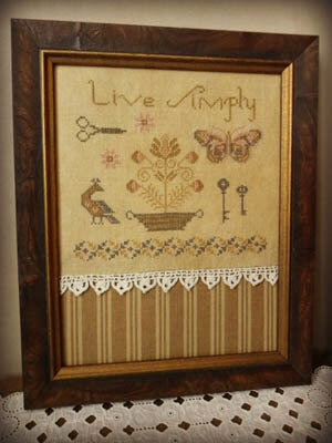 Live Simply - Cross Stitch Pattern
