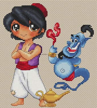 Aladin Et La Lampe Magique - Cross Stitch Pattern