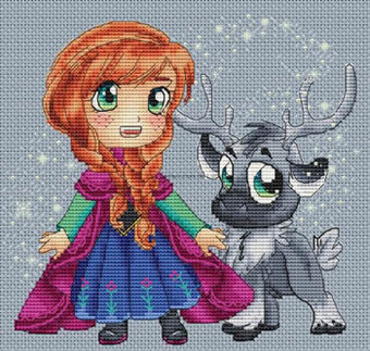 Anna and Sven - Cross Stitch Pattern
