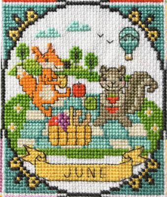 Year of Animal Fun & Frolics - June - Cross Stitch Pattern