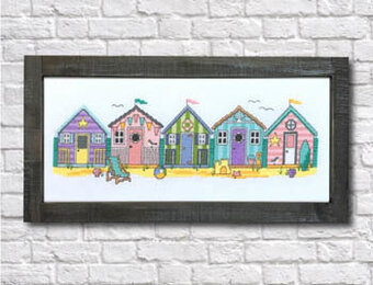 Little Beach Huts - Cross Stitch Pattern