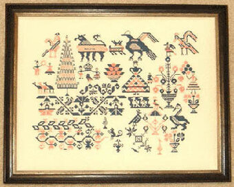 Mexican Sampler c1850 - Cross Stitch Pattern