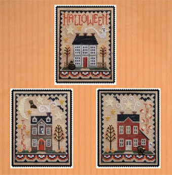 Halloween House Trio - Cross Stitch Pattern