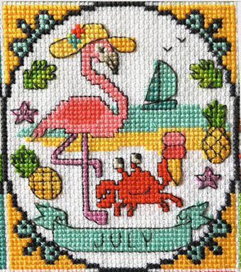 Year of Animal Fun & Frolics - July - Cross Stitch Pattern