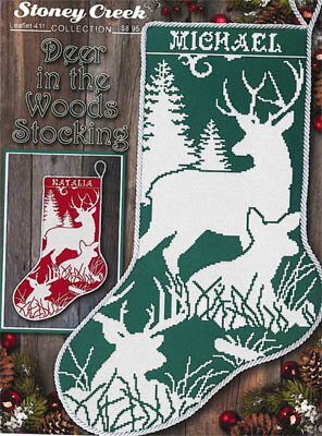 Deer in the Woods Stocking - Cross Stitch Pattern