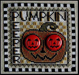 Pumpkin Peeper - Wordplay - Cross Stitch Pattern