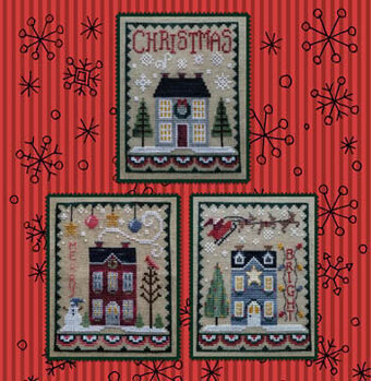 Christmas House Trio - Cross Stitch Pattern