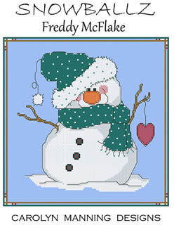 Freddy McFlake - Snowballz - Cross Stitch Pattern