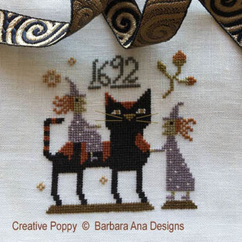 Witch Cat - Cross Stitch Pattern