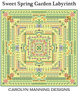 Sweet Spring Garden Labryinth - Cross Stitch Pattern