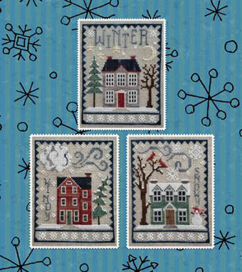 Winter House Trio - Cross Stitch Pattern
