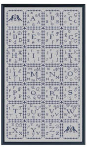 Alphabet Sampler  - Cross Stitch Pattern