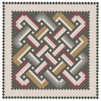 Antioch Mosaic Knotwork - Cross Stitch Pattern