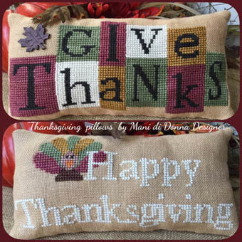 Thanksgiving Pillows - Cross Stitch Pattern