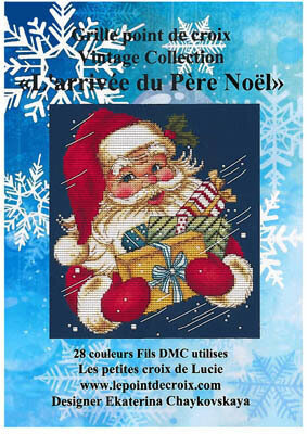 L'arrivee du Pere Noel - Cross Stitch Pattern