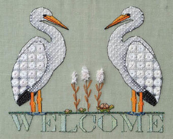 Stork Welcome - Cross Stitch Pattern
