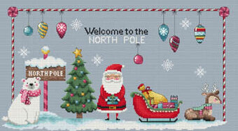 Welcome to the North Pole - Cross Stitch Pattern