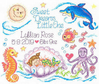 Sea Angels Birth Record - Cross Stitch Pattern