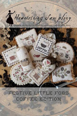 Festive Little Fobs 12 - Coffee Edition Cross Stitch Pattern