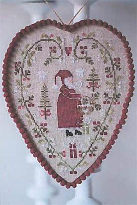 Coeur Pere Noel - Cross Stitch Pattern