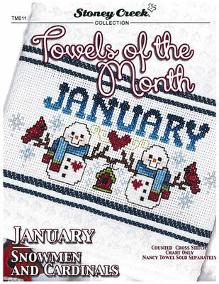 Towels of the Month January - Cross Stitch Pattern