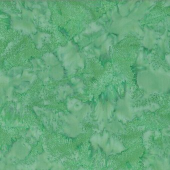 Green Tea Watercolor Batik 100% Cotton Fabric Half Yard